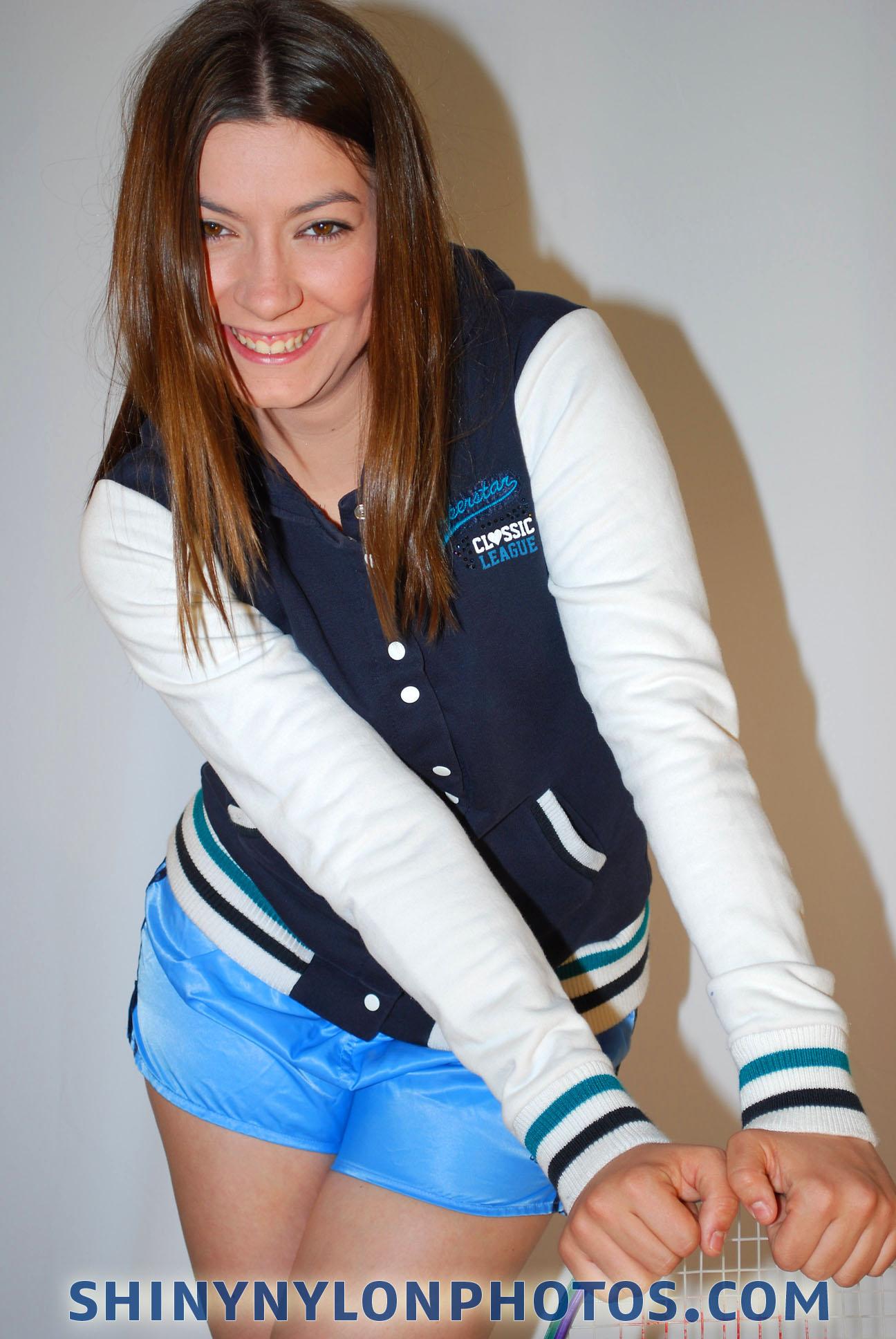 Photoset 120 Light Blue Nylon Shorts And Jacket