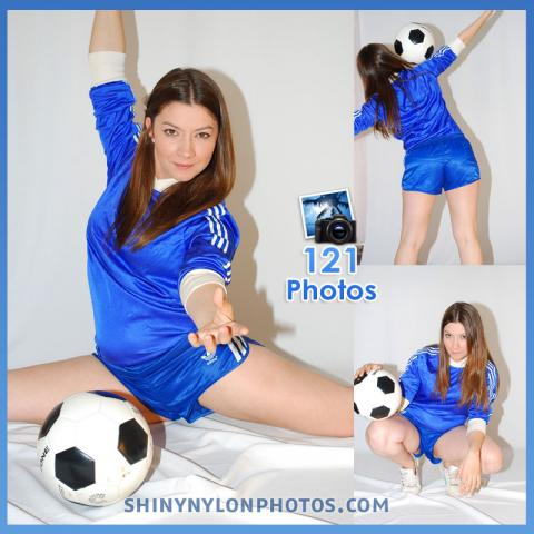 Blue nylon Sprinter shorts
