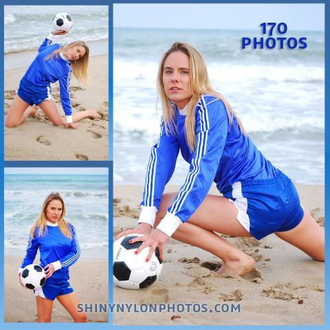 Blue Puma nylon shorts