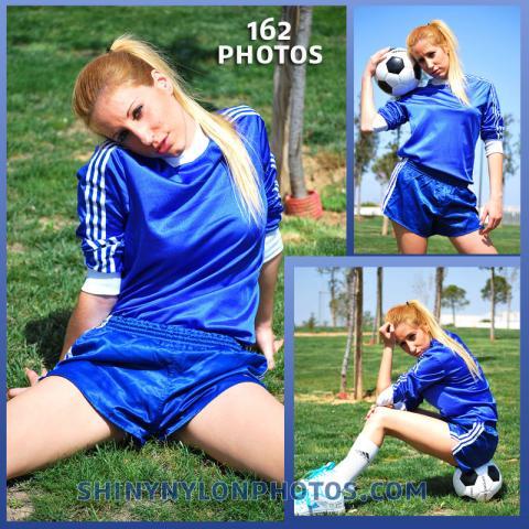 Blue adidas nylon shorts