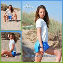 Light blue adidas nylon shorts