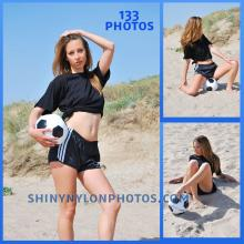 Black adidas nylon shorts