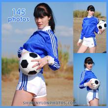 White Adidas nylon shorts