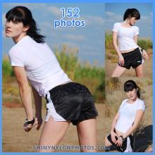 Black puma nylon shorts