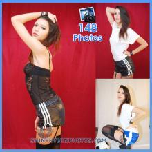 Black shiny nylon shorts and Blue Puma nylon shorts