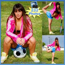 Light Blue adidas nylon shorts and pink jacket