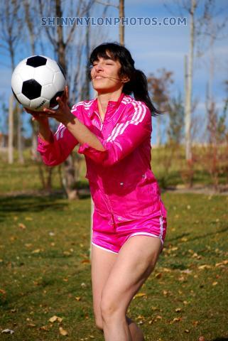 PHOTOSET 280 | Pink nylon shorts and pink jacket
