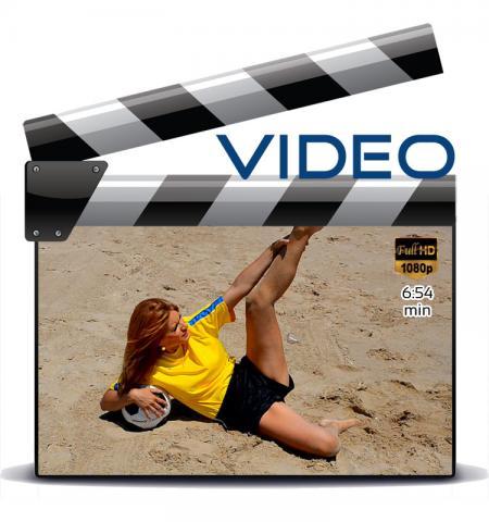 Black sprinter nylon shorts and yellow t-shirt