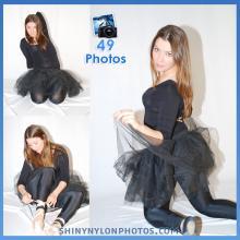Black lycra/spandex leggings and black lycra top