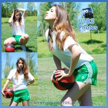 Green adidas nylon shorts